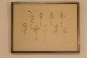 Ezio Martinelli Signed (1913-1980) Figurines Embossed