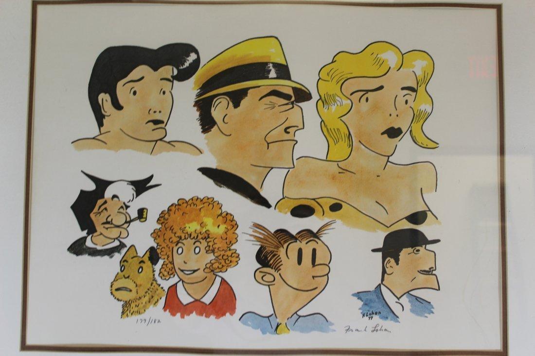 Signed Frank Lohan Dick Tracy Dagwood Annie Comic Art - 2