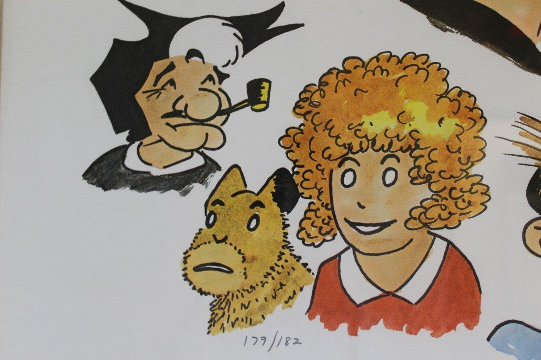 Signed Frank Lohan Dick Tracy Dagwood Annie Comic Art - 3