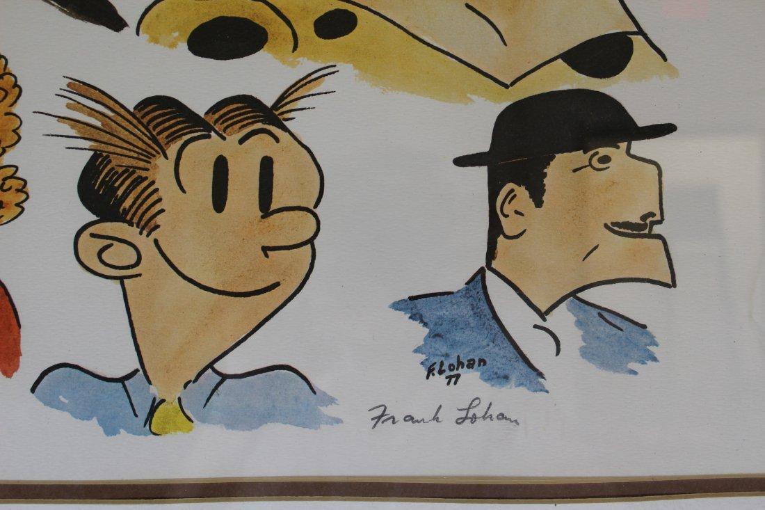 Signed Frank Lohan Dick Tracy Dagwood Annie Comic Art - 4