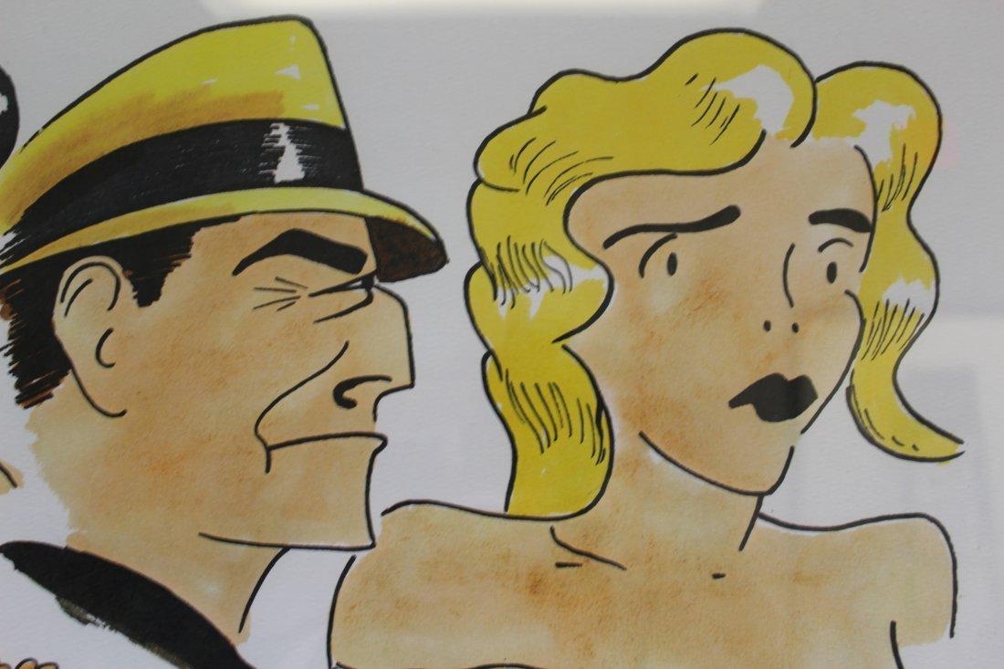 Signed Frank Lohan Dick Tracy Dagwood Annie Comic Art - 5
