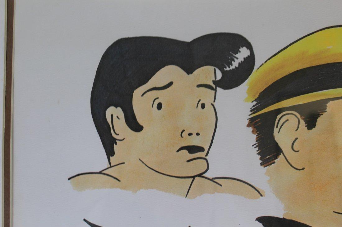 Signed Frank Lohan Dick Tracy Dagwood Annie Comic Art - 6