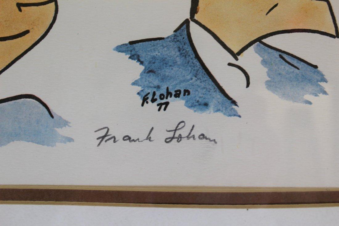 Signed Frank Lohan Dick Tracy Dagwood Annie Comic Art - 8