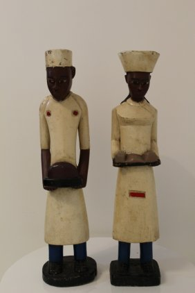 Pair Of Colonial African Sculptures