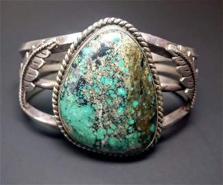 Sterling Silver Native Amercan Turquoise Bracelet