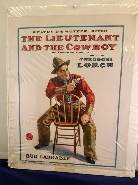 """1907 POSTER. """"THE LIEUTENTANT AND THE COWBOY"""