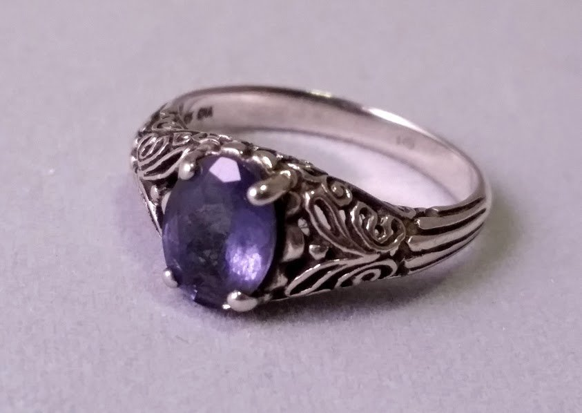 Sterling Silver and Amethyst ? Ring