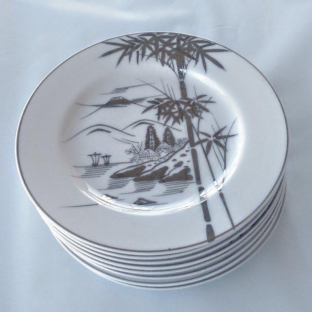 KUTANI China Plates Bamboo Design