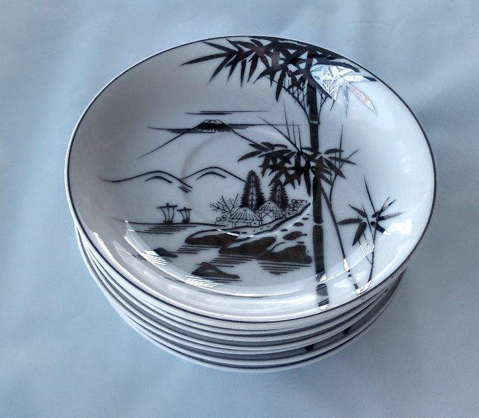 KUTANI China Bowls Bamboo Design