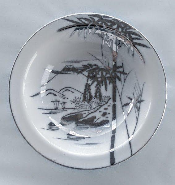 KUTANI China Soup Bowls Bamboo Design