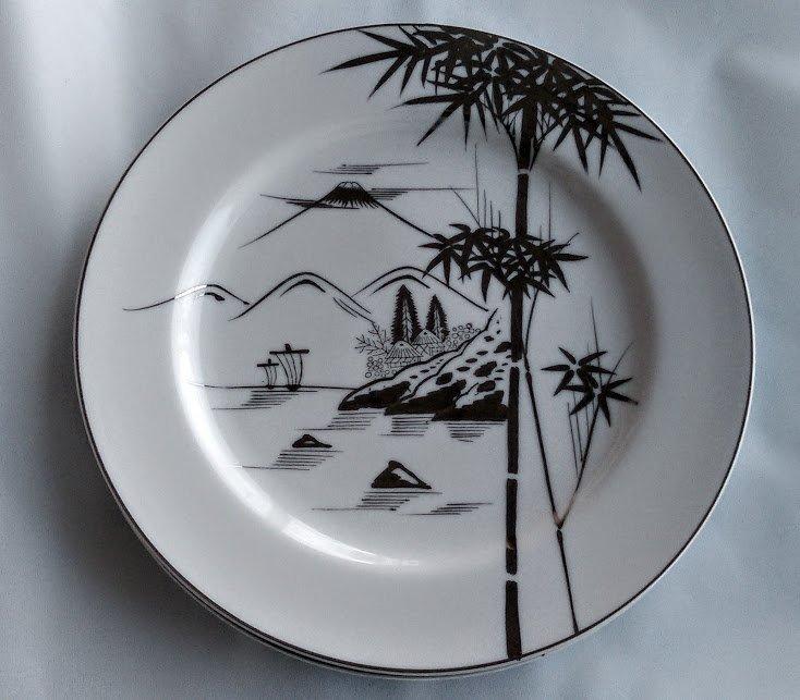 KUTANI China Dinner Plates Bamboo Design