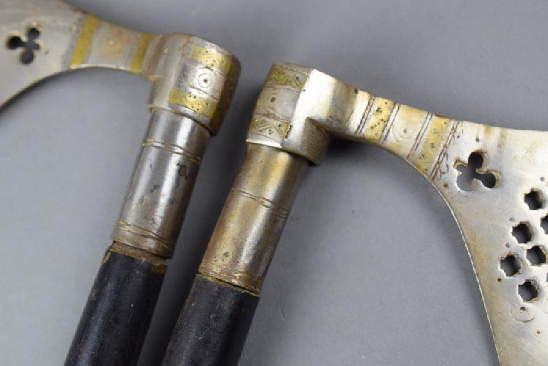 Pair Hungarian Late 19th C. Battle Axes - 3