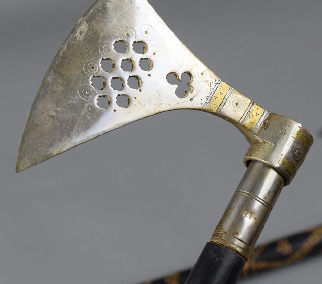 Pair Hungarian Late 19th C. Battle Axes - 4