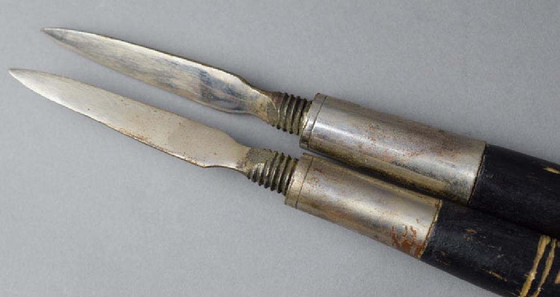 Pair Hungarian Late 19th C. Battle Axes - 8