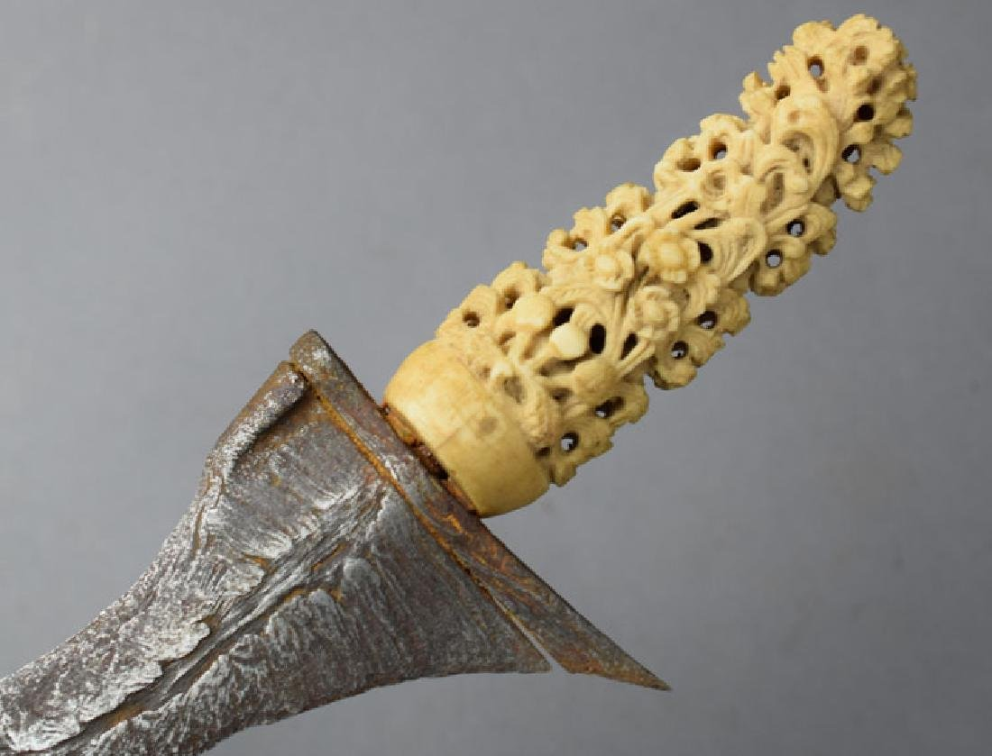 Late 19th C. Kris Java Indonesia Knife - 6