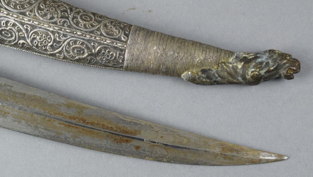 Fine Ottoman Balkan Jambiya Dagger - 5