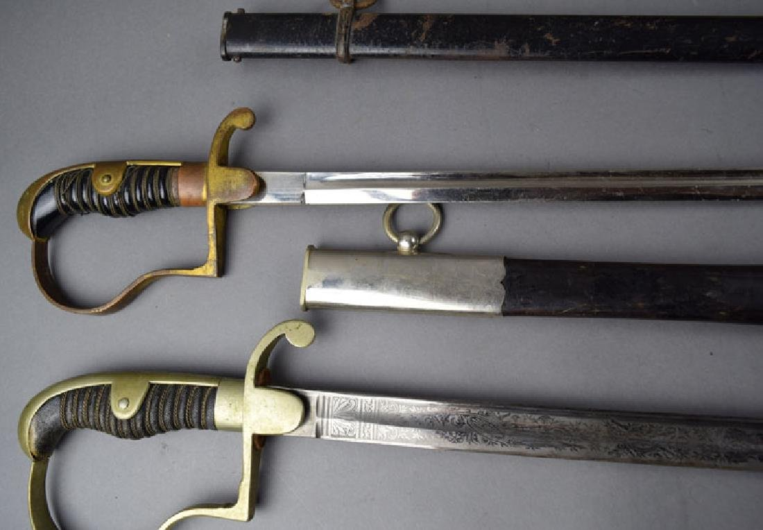 Lot of Two  German WWI Period Swords - 3