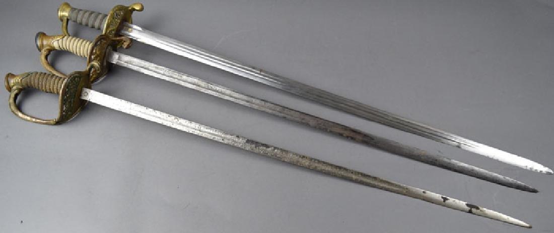 Lot of 3 US Navy Swords