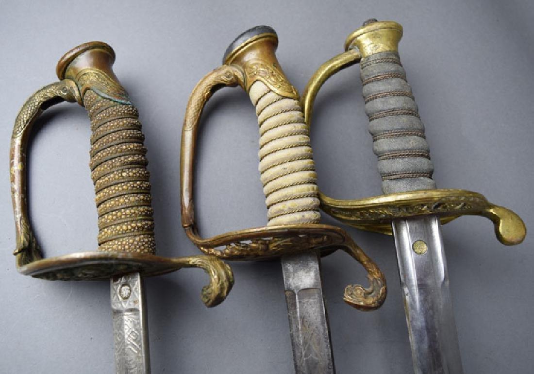 Lot of 3 US Navy Swords - 2
