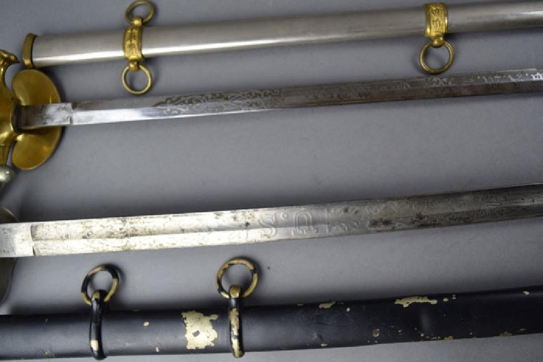 Lot of 2 US WWI period Swords - 4