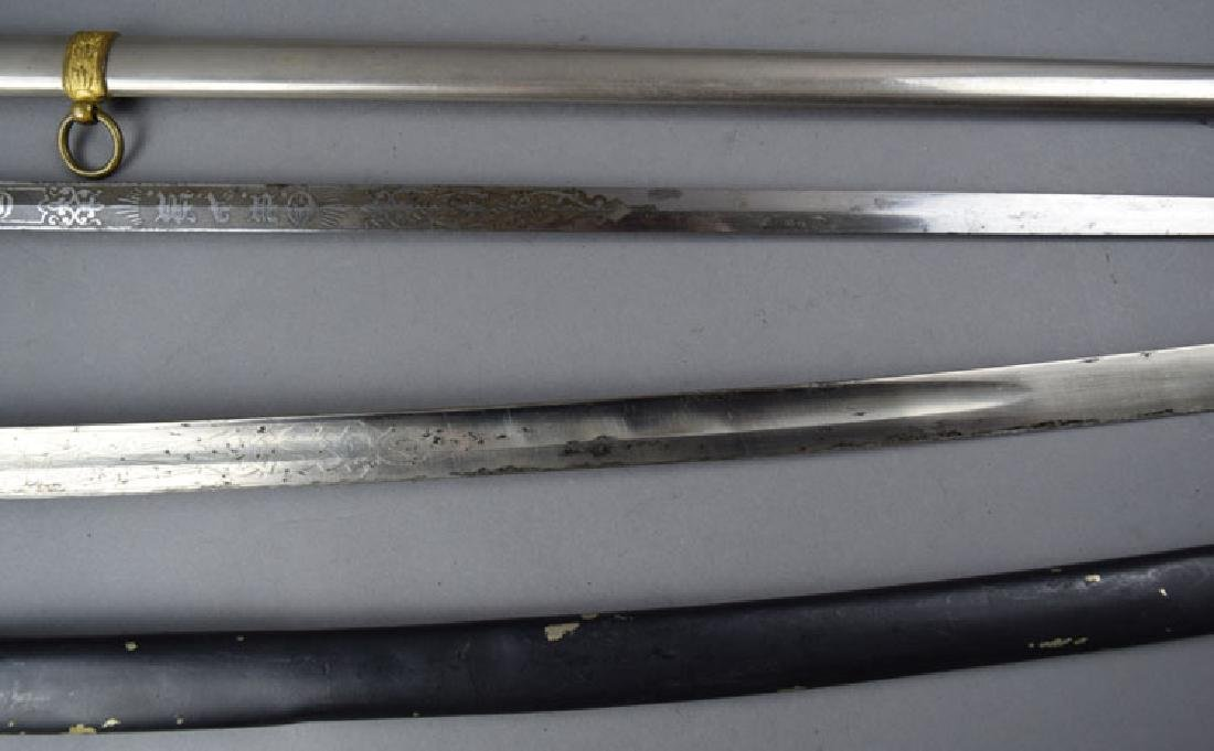 Lot of 2 US WWI period Swords - 5