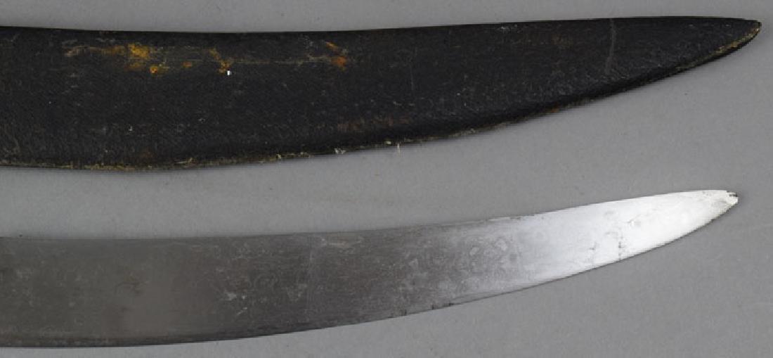 19th C. Indian Tulwar Sword with Gilded Head - 8