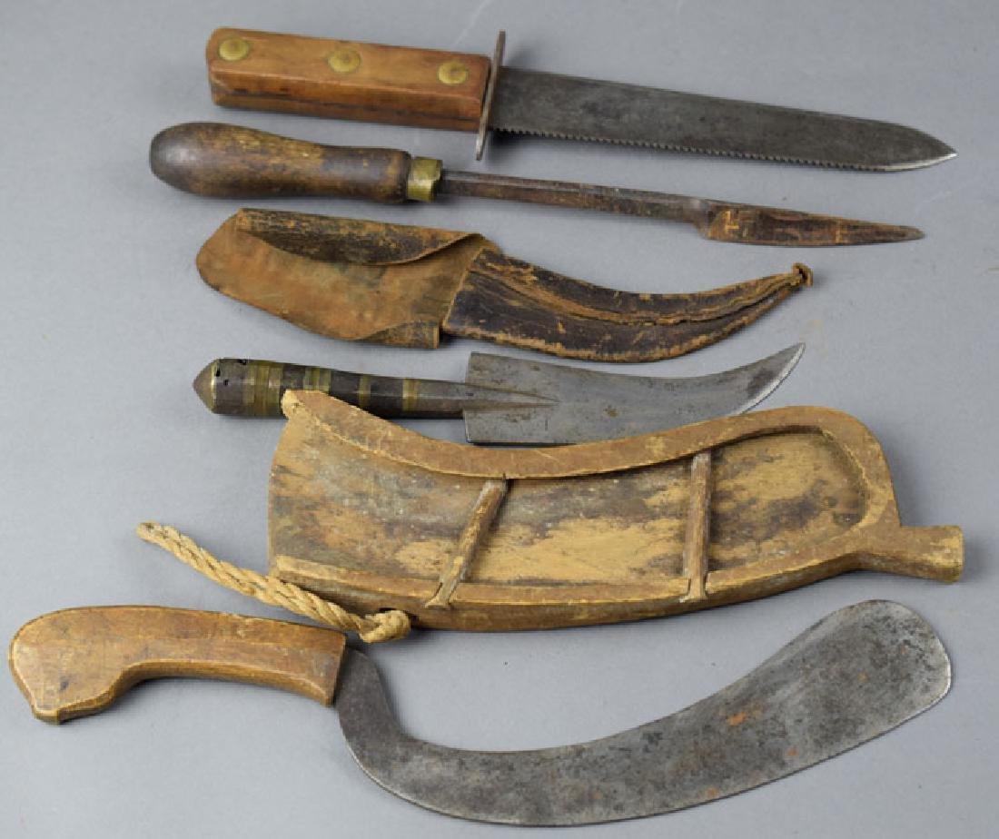 Lot of Vintage Survival Knives - 2