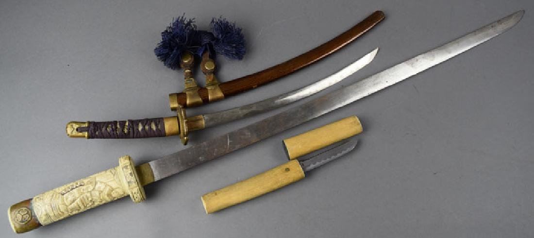 Lot of 2 Japanese Swords and Knife - 2