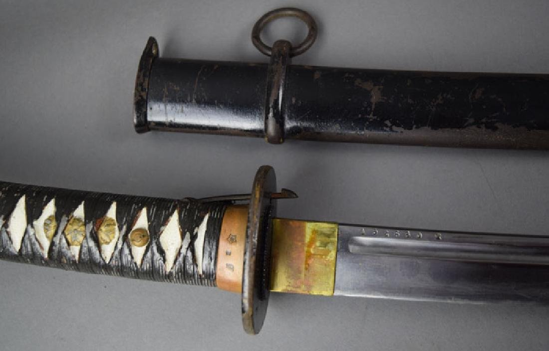 WWII Japanese NCO Katana Sword - 4