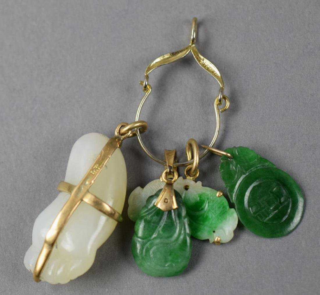Chinese carved jade slide - 2