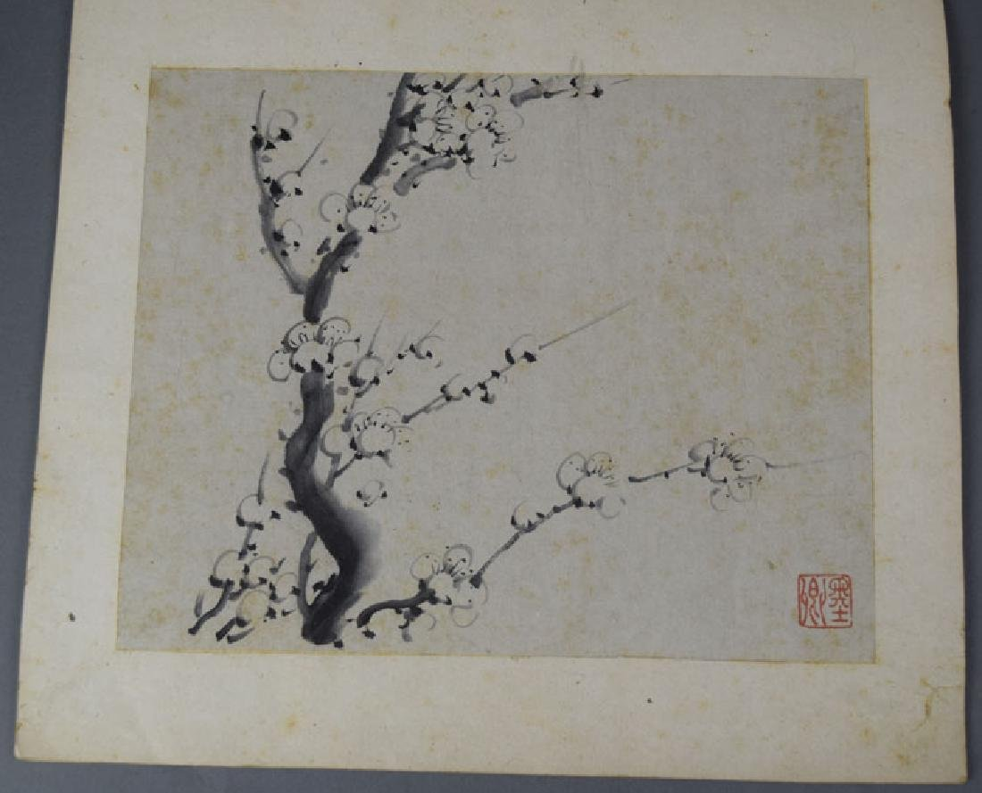 Chinese Qing watercolor album painting - 2