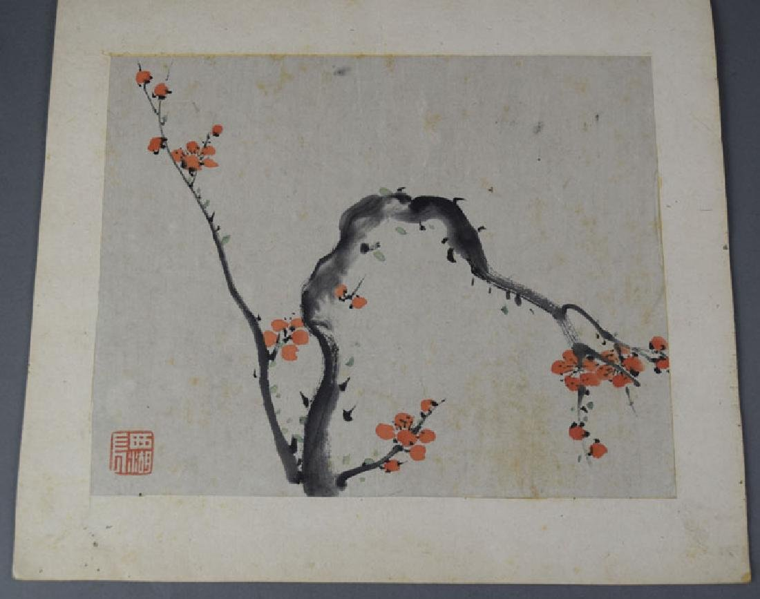 Chinese Qing watercolor album painting - 4