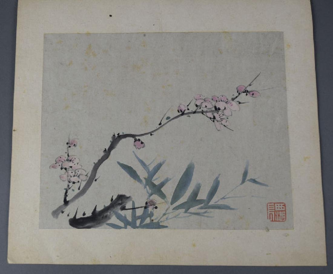 Chinese Qing watercolor album painting - 7