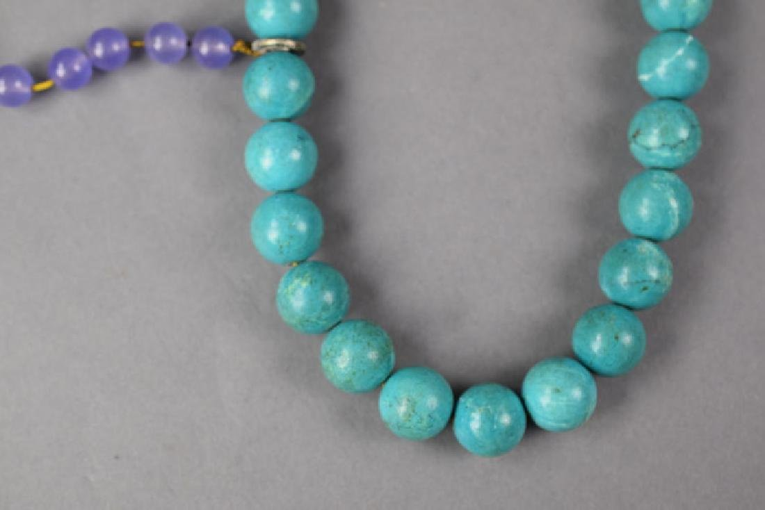 Chinese Qing style turquoise court beads - 2