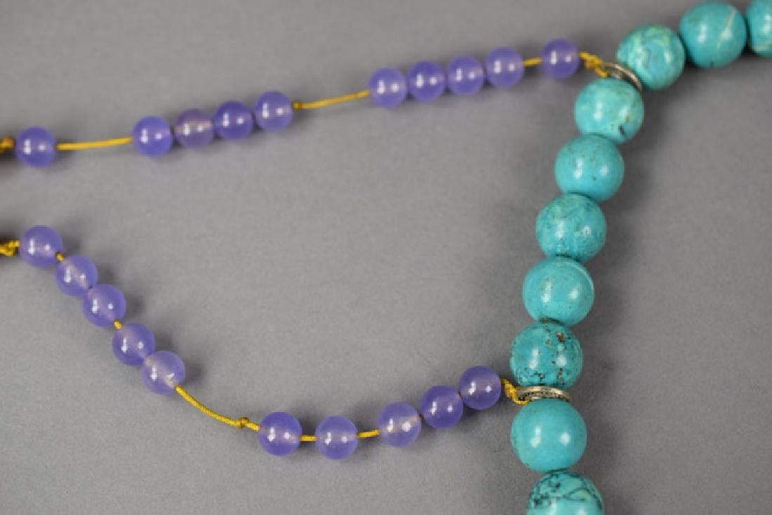 Chinese Qing style turquoise court beads - 4