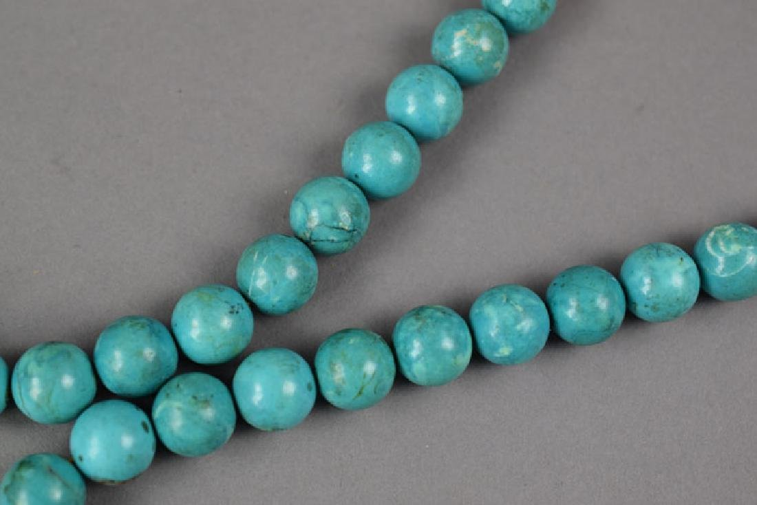 Chinese Qing style turquoise court beads - 5