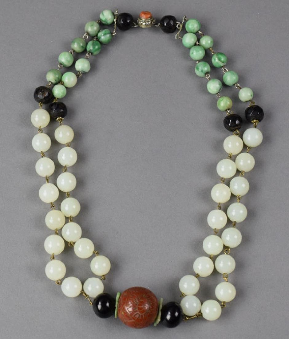 Chinese jade necklace