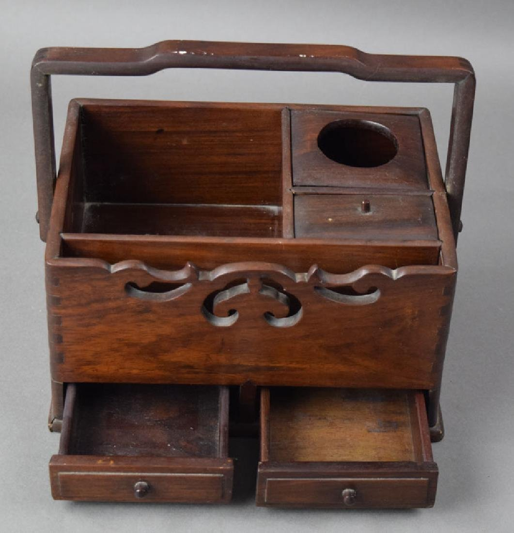 Chinese Qing rosewood box - 2