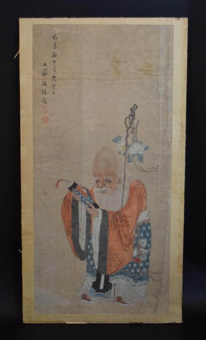 Chinese Qing watercolor painting