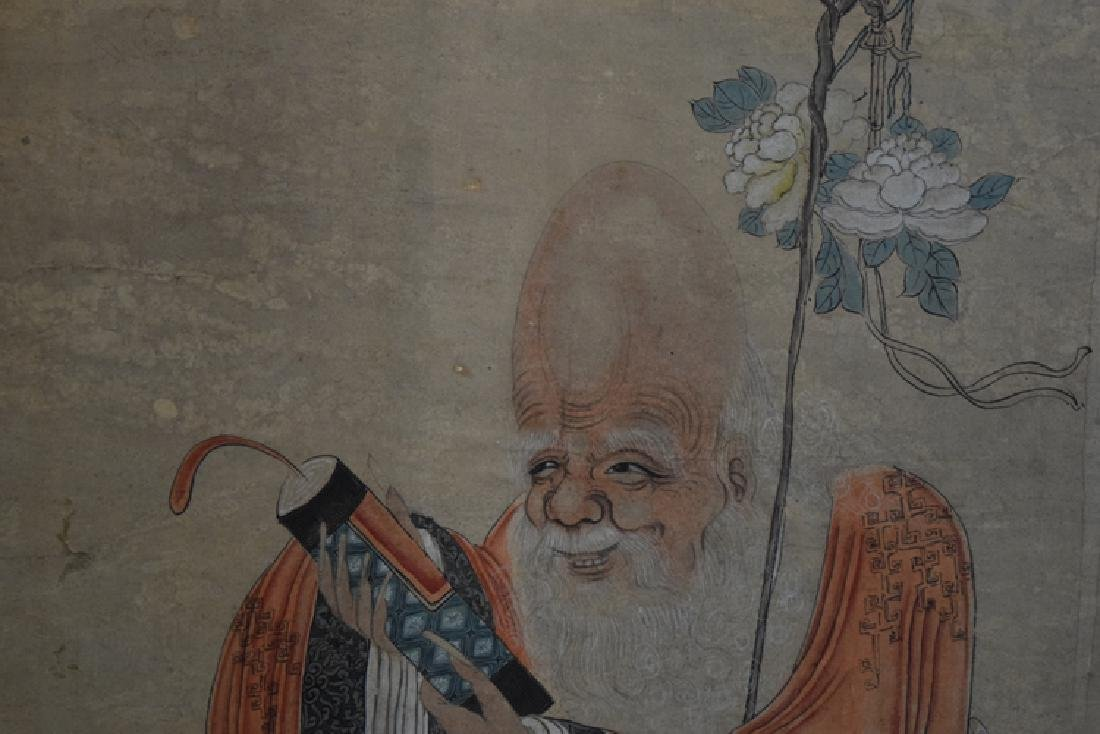 Chinese Qing watercolor painting - 2
