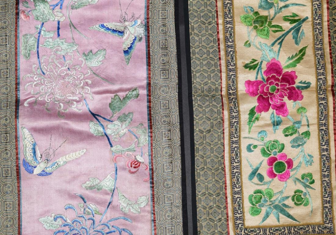 Four Chinese Qing embroidery cover - 3