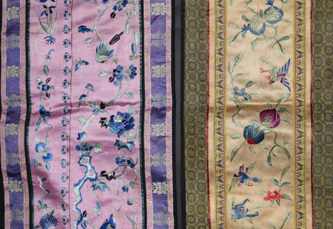 Four Chinese Qing embroidery cover - 4