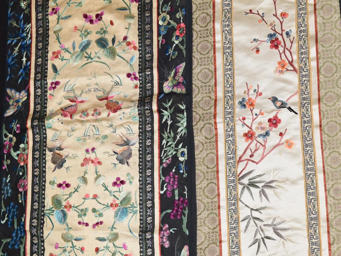 Five Chinese Qing embroidery cover - 2