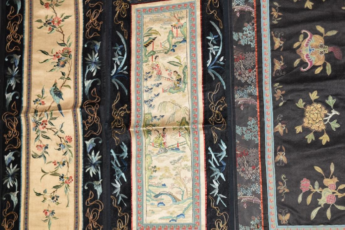 Five Chinese Qing embroidery cover - 3