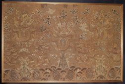 Important  Large Chinese Qing Yongzhen Imperial silk