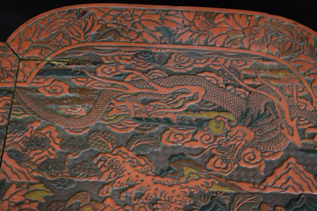 Chinese Ming cinnabar low table - 4