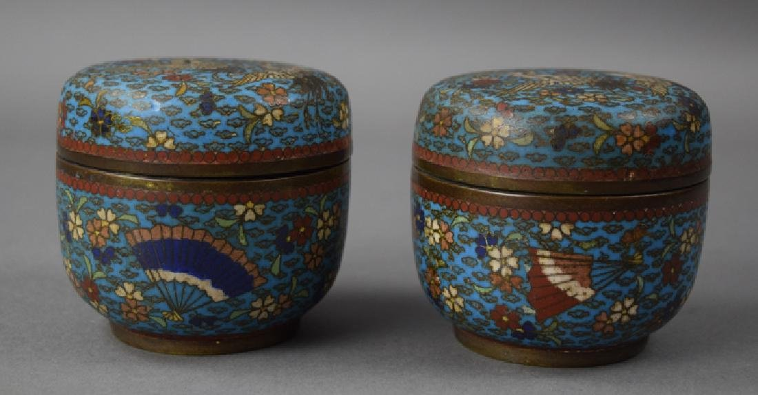 Pr. Chinese Qing cloisonne boxes