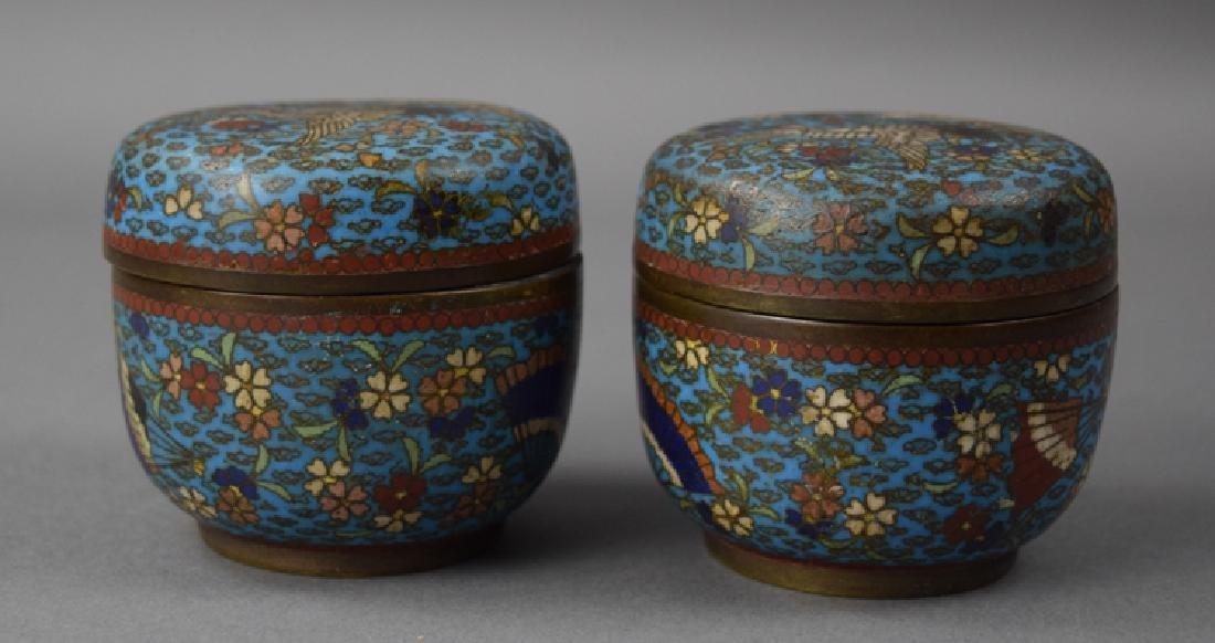 Pr. Chinese Qing cloisonne boxes - 2