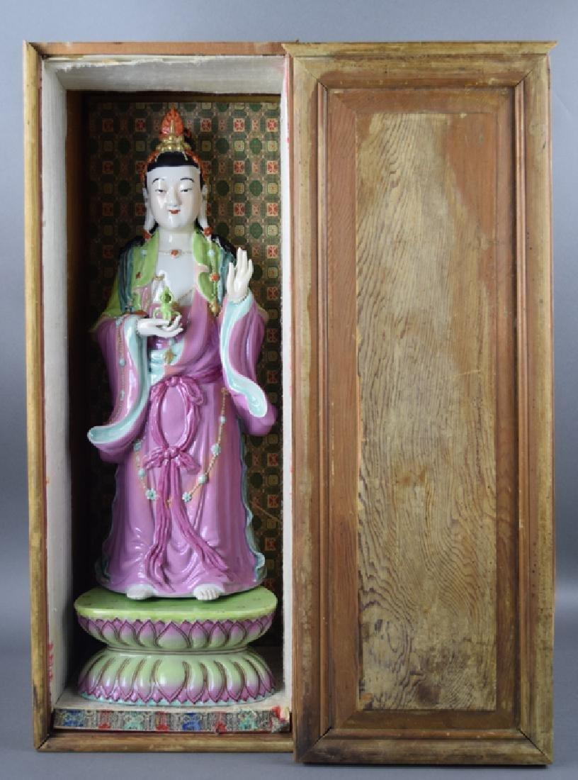 Chinese Republic famille rose porcelain Vajrasattva