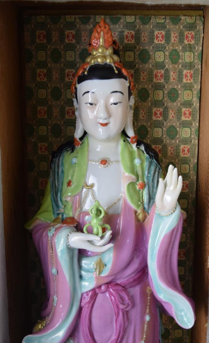 Chinese Republic famille rose porcelain Vajrasattva - 2